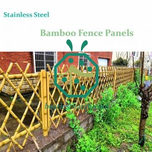 Garden Landscape Design Powder Coated Stainless Steel Bamboo Fence Covering